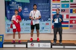 """Starptauriskās badmintona sacensības """"Yonex Latvia"""" Zemgales Olimpiskā centrā 2019. gada 2.jūnijā."""